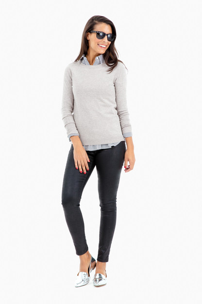 fawn carolina crewneck sweater