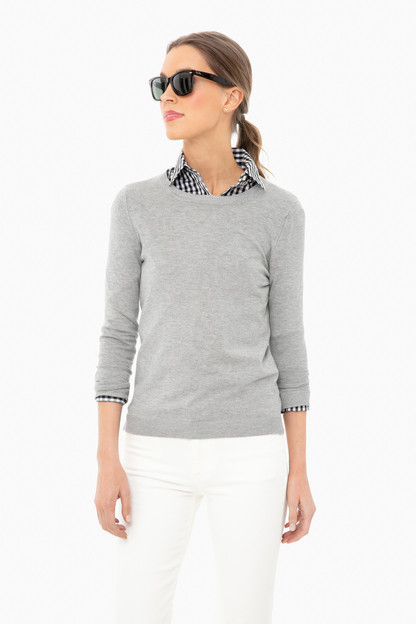 heather gray carolina crewneck sweater