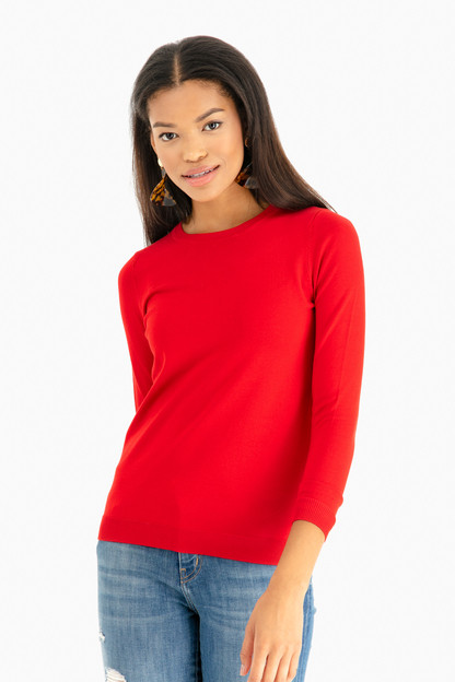 cardinal red carolina crewneck sweater