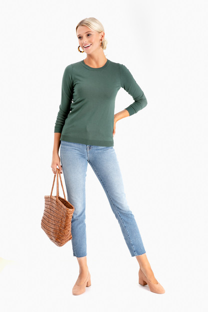 jade carolina crewneck sweater