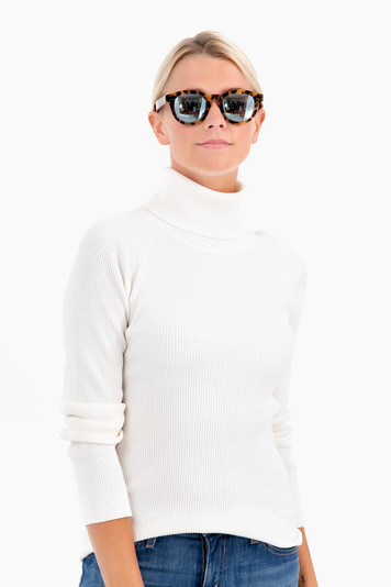 winter white sonia ribbed turtleneck