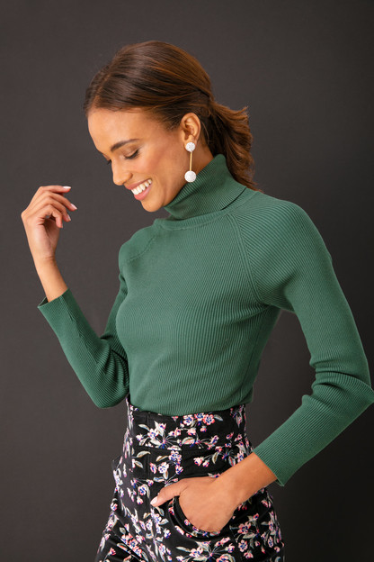 Sonia Ribbed Turtleneck