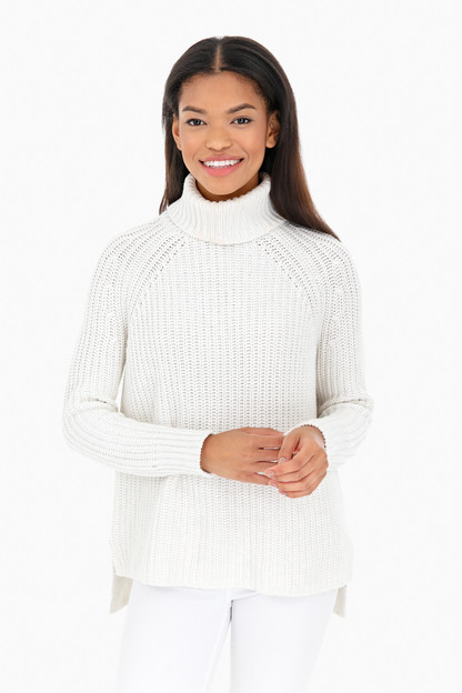 signature cotton shaker turtleneck sweater