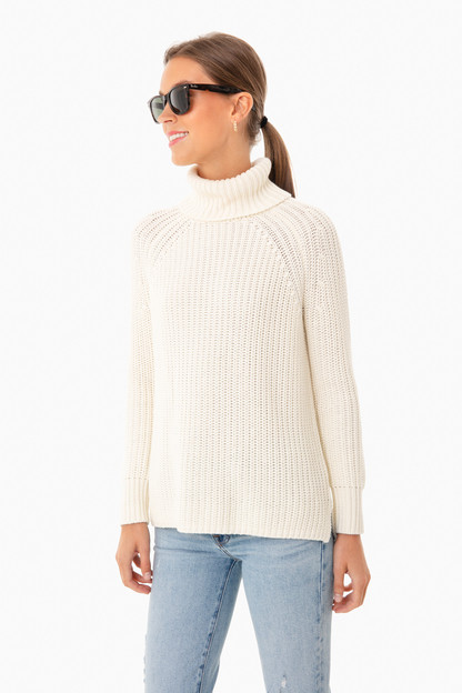 Winter White Shaker Turtleneck Sweater Take an extra 30% off with code: HOORAY