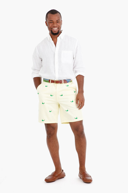 spouty whale cisco embroidered shorts