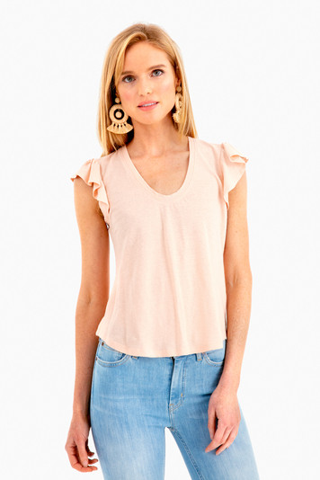 sleeveless washed texture shirt