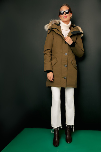 military green rossclair parka