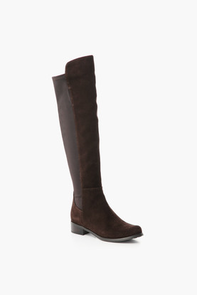 brown suede velma boots