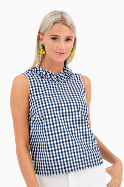 gingham audrey top