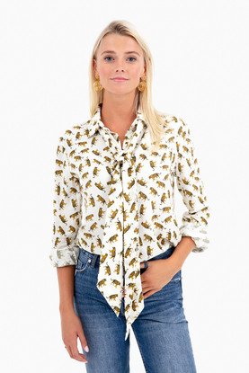 tigers ribbons blouse