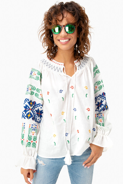 embroidered finley blouse