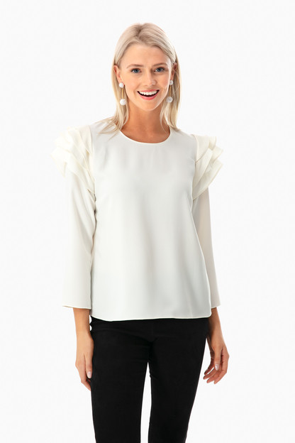 margaret ruffle top
