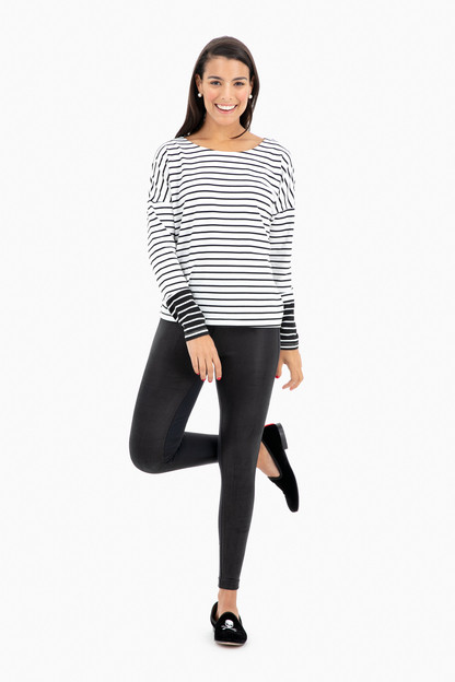 striped paige pullover