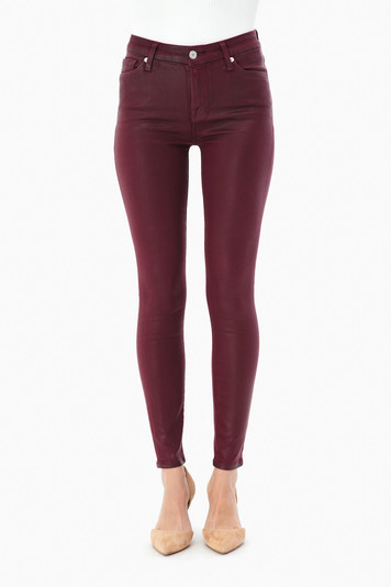 bordeaux ankle skinny jeans