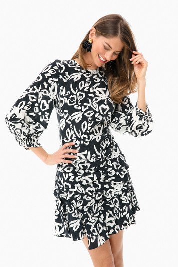 block print mel dress