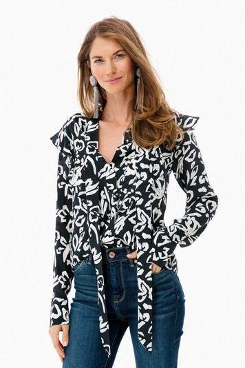 block print layla top
