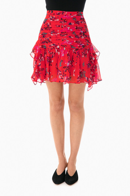 floral clusters abby skirt