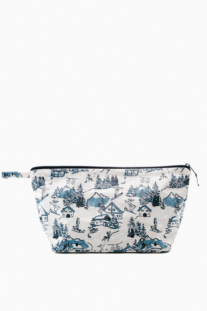 large ski toile make up bag