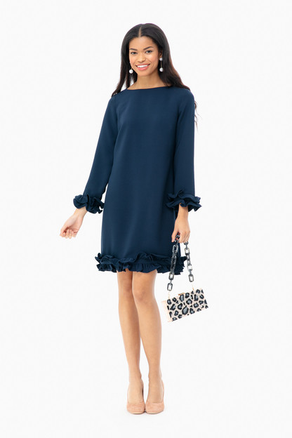 celine double ruffle dress