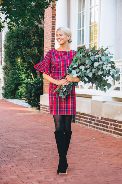 noelle plaid dress