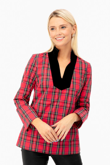 cara plaid tunic top