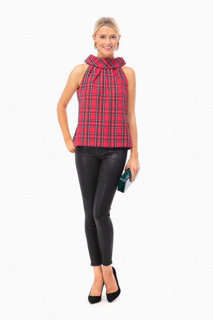 jaclyn plaid top