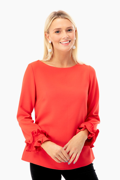 alyce double ruffle top