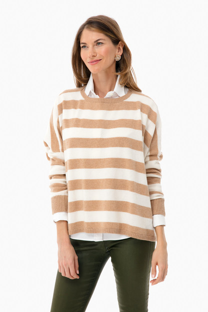 Striped Scottie Cashmere Sweater