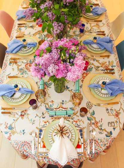 set of 2 silk road beaded placemat