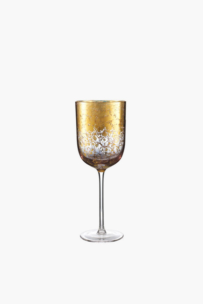 gold crackle goblet
