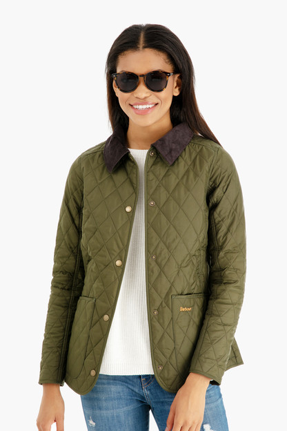 olive annandale quilted jacket