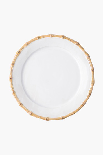 classic bamboo salad plate