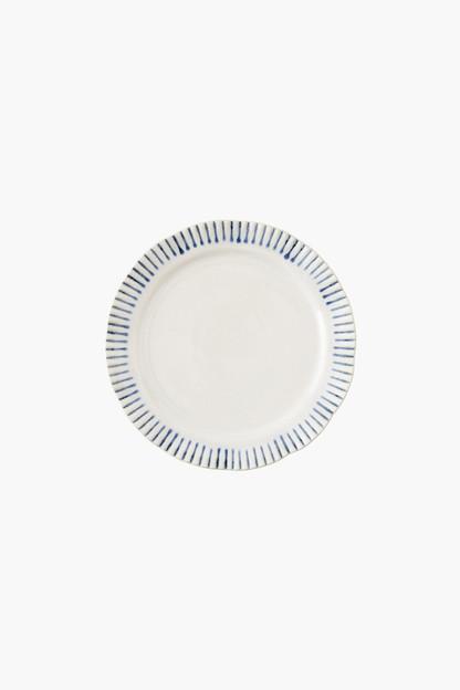 sitio stripe dessert plate