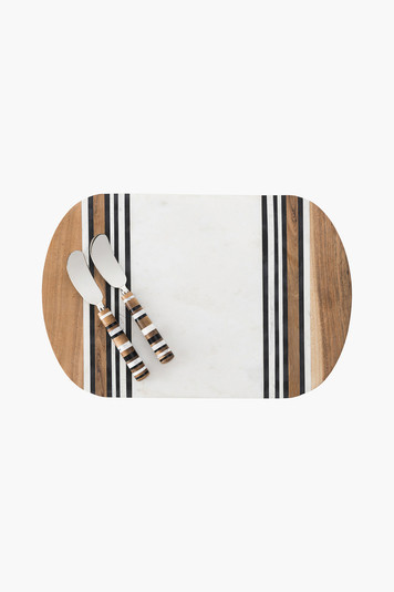 stonewood stripe serving board and servers