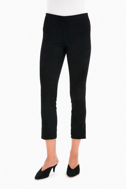 Stretch Suede Crop Pant