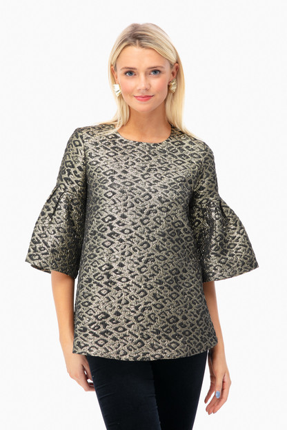 Golden Leopard Blouse
