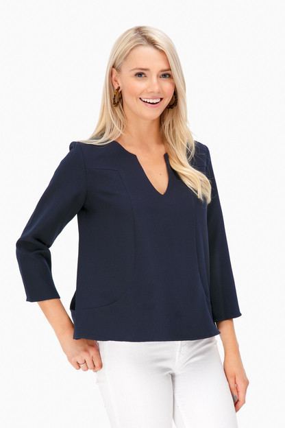 celeste v-neck blouse