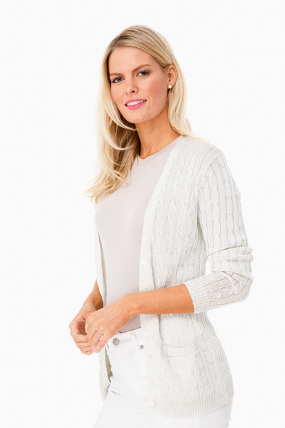 Metallic Juliette Silk Cardigan