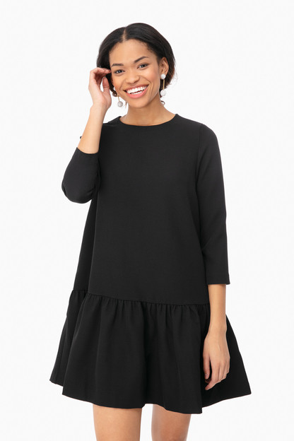 black louise peplum dress