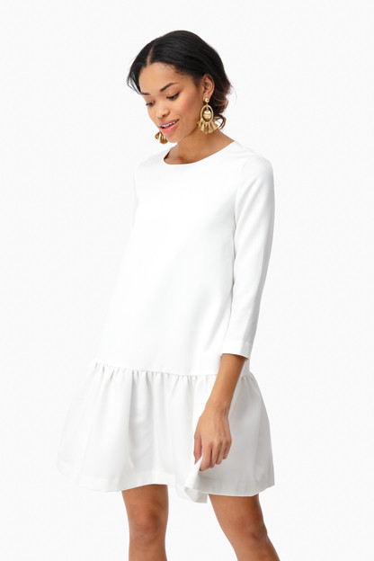 Ivory Louise Peplum Dress