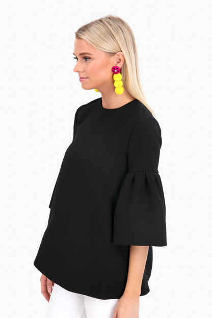 black harper bell sleeve blouse