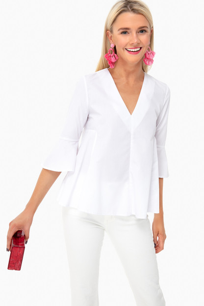 White Addie Blouse