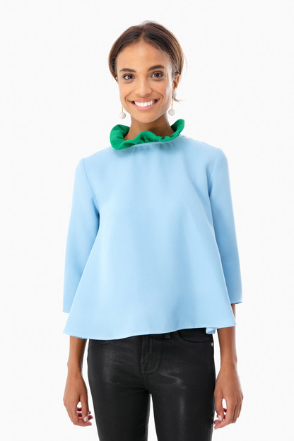 color block faye blouse
