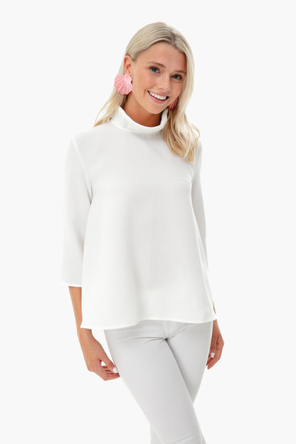 white faye blouse