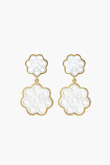 gardenia drop earrings