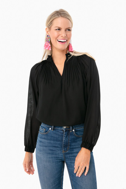 black arden blouse