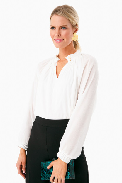 white arden blouse