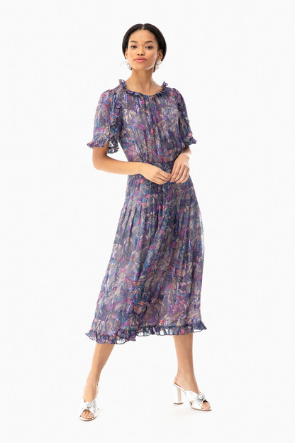 short sleeve giverney fleur dress