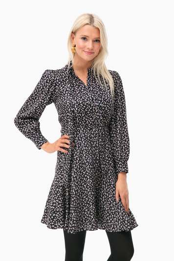 long sleeve mini cheetah dress