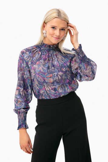 long sleeve giverney fleur top